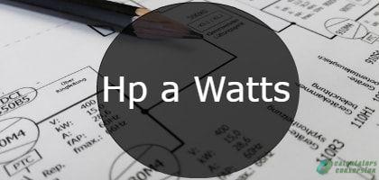 hp a watts-min