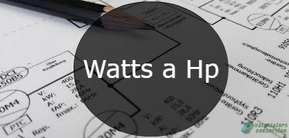 watts a hp-min