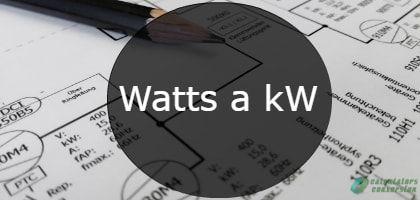 watts a kw-min