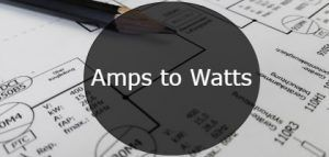 amps to watts-min