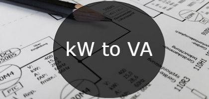 kw to va how to converter calculator formula and chart. Black Bedroom Furniture Sets. Home Design Ideas