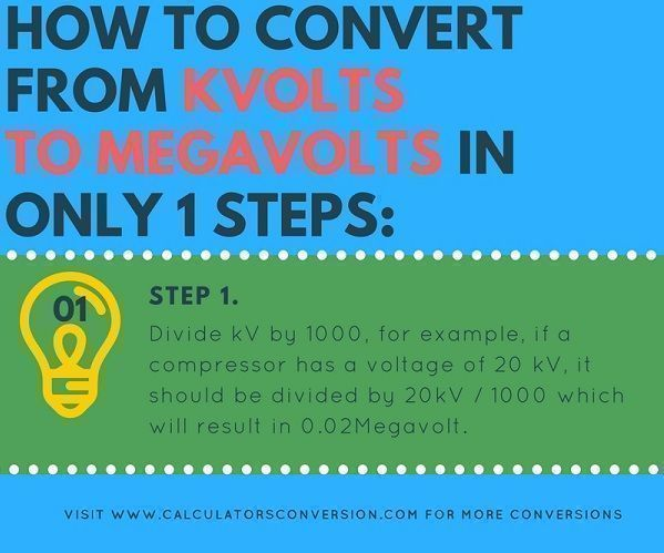 convert in only one step from kvolt to mvolt