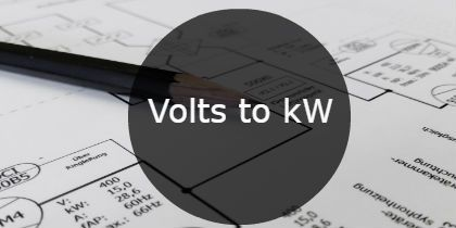 Volts to kW