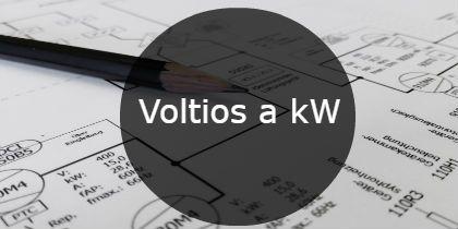 voltios a kW