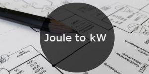 Joule to kW