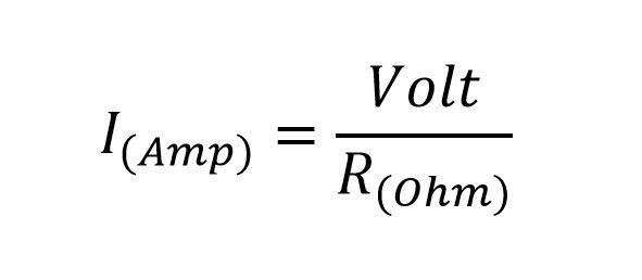 formula resistencia a amperios