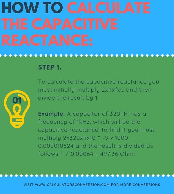 How to calculate the capacitive reactance
