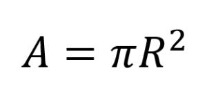 Area of a circle apartir of the radioArea of a circle apartir of the radius