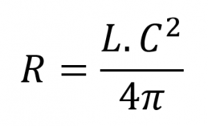 Formula area with circumference length