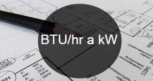 BTU_hr a kW